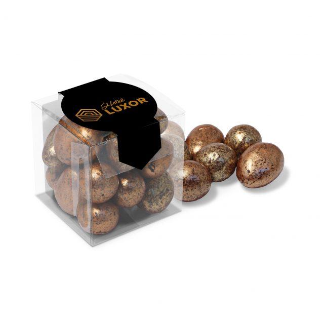 Chocolates – Clear Cube – Chocolate Coated Honeycomb