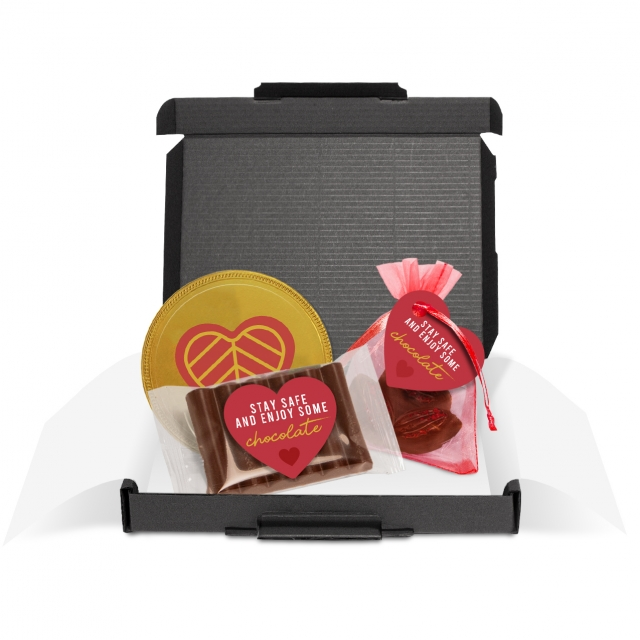 Gift Boxes – Mini Black Postal Box – The Little Box of Love
